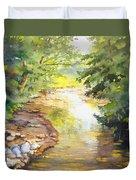Bird's Trail Creek Duvet Cover