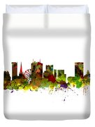 Birmingham Uk City Skyline Duvet Cover