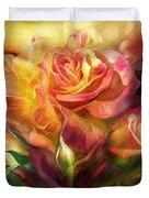 Birth Of A Rose - Sq Duvet Cover