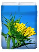 Birth Of A Sunflower By Kaye Menner Duvet Cover