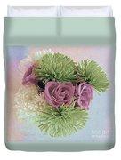 Birthday Flowers Three Duvet Cover
