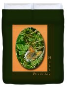 Birthday Greeting Card - American Copper Butterfly Duvet Cover