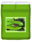 Birthday Greeting Card - Bullfrog On Lily Pad Duvet Cover