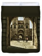 Bisagra Gate And Courtyard Duvet Cover