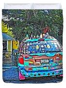 Bisbee Arizona Art Car Duvet Cover