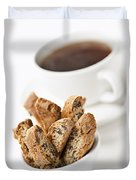 Biscotti And Coffee Duvet Cover