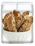 Biscotti Cookies In Bowl Duvet Cover