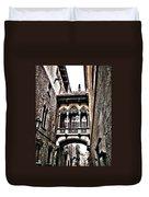 Bishop's Street - Barcelona Duvet Cover by Juergen Weiss