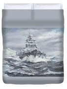 Bismarck Off Greenland Coast  Duvet Cover