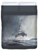 Bismarck Through Curtains Of Rain Duvet Cover