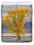 Bison And Cottonwood Duvet Cover
