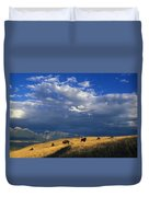Bison Back From The Brink Duvet Cover