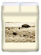 Bison Herd Duvet Cover