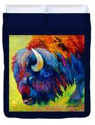 Bison Portrait II Duvet Cover