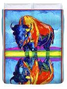 Bison Reflections Duvet Cover