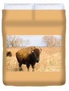Bison Tall Grass Duvet Cover