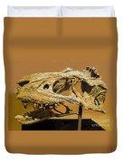 Bistahieversor Dinosaur Skull Fossil Duvet Cover