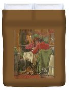 Bistro In Beziers, 2007 Pastel On Paper Duvet Cover