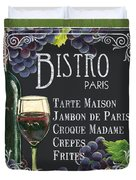 Bistro Paris Duvet Cover by Debbie DeWitt