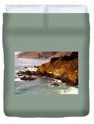Bixby Bridge Of Big Sur California Duvet Cover by Barbara Snyder