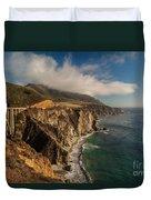 Bixby Coastal Drive Duvet Cover by Mike Reid