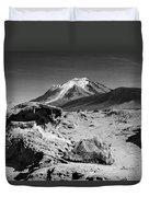 Bizarre Landscape Bolivia Black And White Duvet Cover