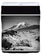 Bizarre Landscape Bolivia Black And White Select Focus Duvet Cover