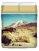 Bizarre Landscape Bolivia Old Postcard Duvet Cover