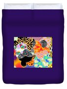 Bizzarro Colorful Psychedelic Floral Abstract Duvet Cover