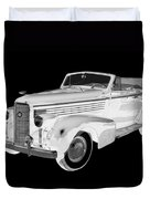 Black An White 1938 Cadillac Lasalle Pop Art Duvet Cover