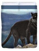 Black And Blue Duvet Cover