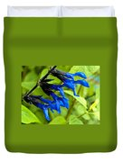 Black And Blue Salvia Duvet Cover
