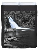 Black And Color Waterfall Duvet Cover