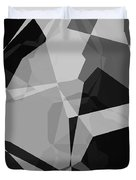 Black And Grey Abstract Duvet Cover