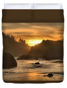 Black And Orange Duvet Cover by Adam Jewell