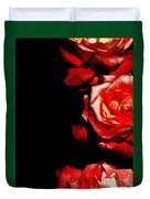 Black And Rose Duvet Cover