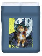 Black And Tan Chihuahua - Such A Good Little Witch Duvet Cover