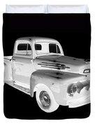 Black And White 1951 Ford F-1 Pickup Truck  Duvet Cover