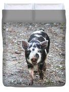 Black And White Baby Pig Duvet Cover