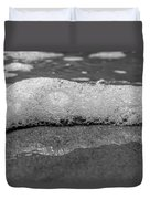 Black And White Beach Bubbles Duvet Cover