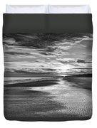 Black And White Beach Duvet Cover