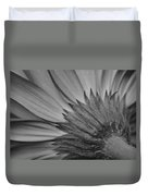 Black And White Blossom Duvet Cover