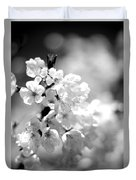 Black And White Blossoms Duvet Cover