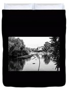 Black And White - Boathouse Row Duvet Cover