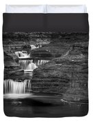 Black And White Cascade Duvet Cover