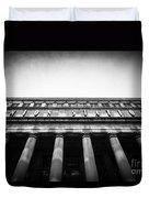Black And White Chicago Union Station Duvet Cover