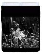 Black And White Daffodil Duvet Cover