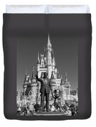 Black And White Disney And Mickey Duvet Cover