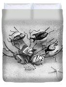 Black And White Fish 1  Duvet Cover