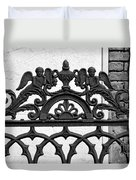 Black And White Ironwork Duvet Cover by Alys Caviness-Gober